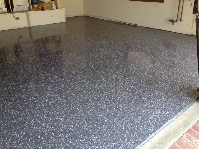 Epoxy floor 2 grout and stone services for Steam clean garage floor